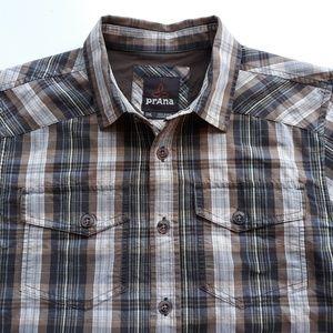 Prana Mens Hike Shirt Size Small S Plaid